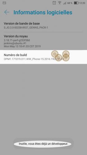 Tuto inspecter un site sous android depuis son pc - capture numero de build